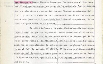 Rechazo de recurso de amparo interpuesto en favor de Freddy Paredes Edwin Alegria