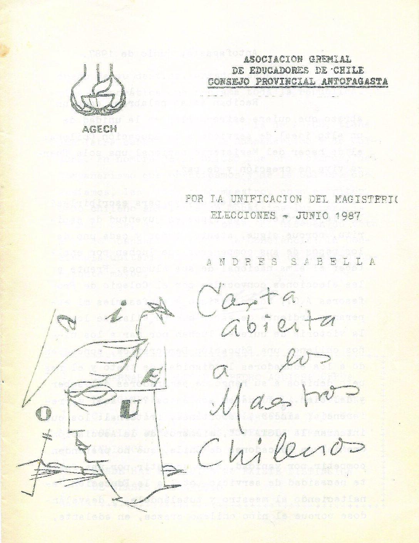 Carta abierta a los maestros chilenos