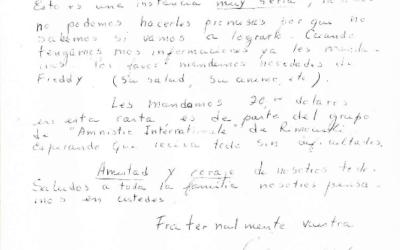 Carta a FASIC