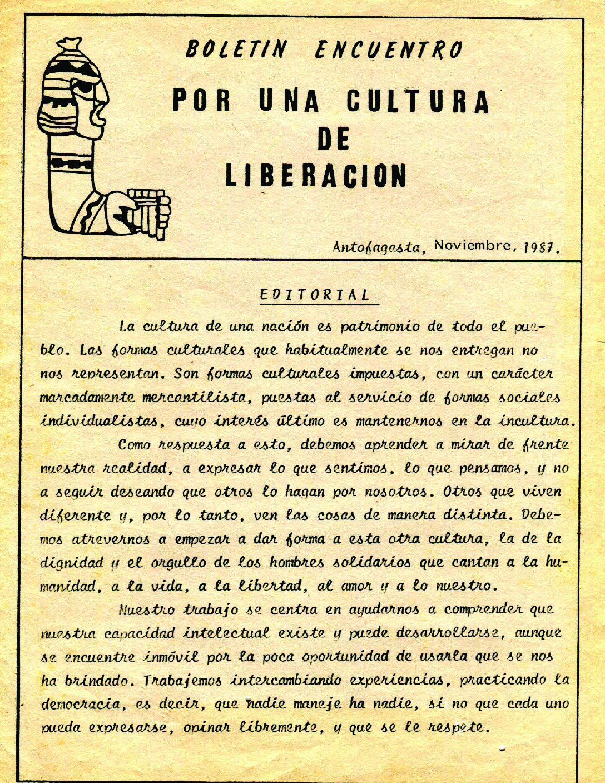 Boletín Encuentro – Por una cultura de liberación