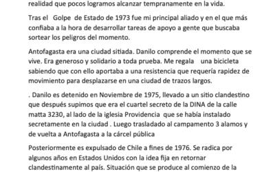 Relato testimonial sobre Danilo Quezada
