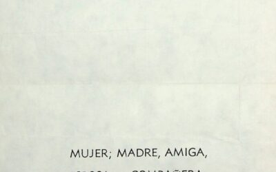 Invitación para el Día Internacional de la Mujer 1986