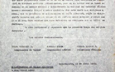 Carta al Directorio Regional del Colegio de Profesores
