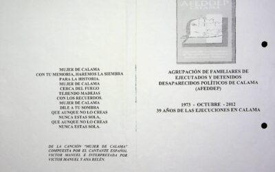 1973 – octubre – 2012. 39 años de las ejecuciones en Calama